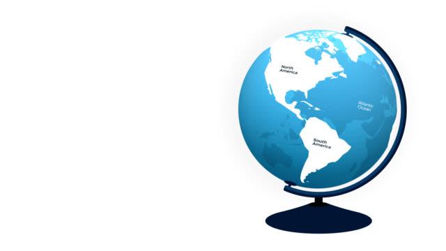 blue globe - transparent model of planet earth