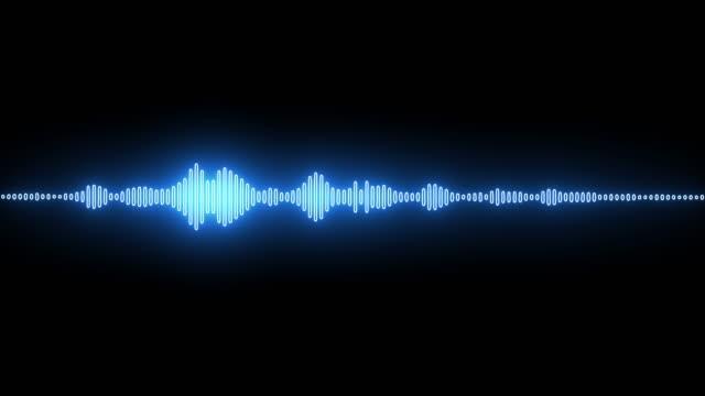 vídeos de stock, filmes e b-roll de ritmo de incandescência azul que iguala a onda sadia - looped - comunicação