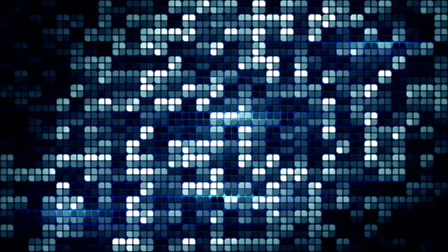 blue glowing squares loopable background video