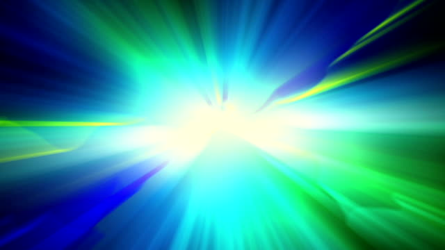 blue green shiny light loopable background video