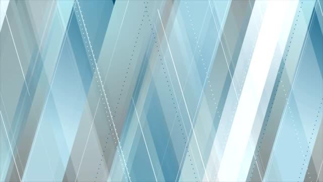 青灰色の抽象的なハイテク幾何学的ビデオ アニメーション - 灰色点の映像素材/bロール