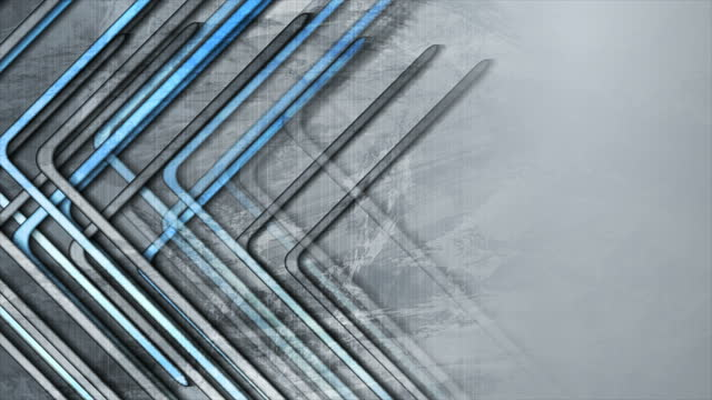 Blue grey stripes grunge abstract tech geometric motion background