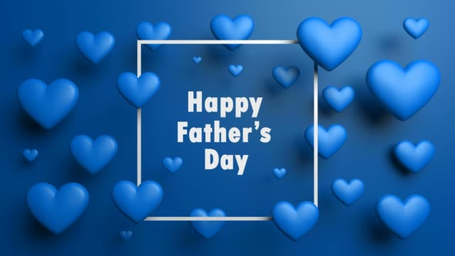 Blue Happy Father's Day Background video
