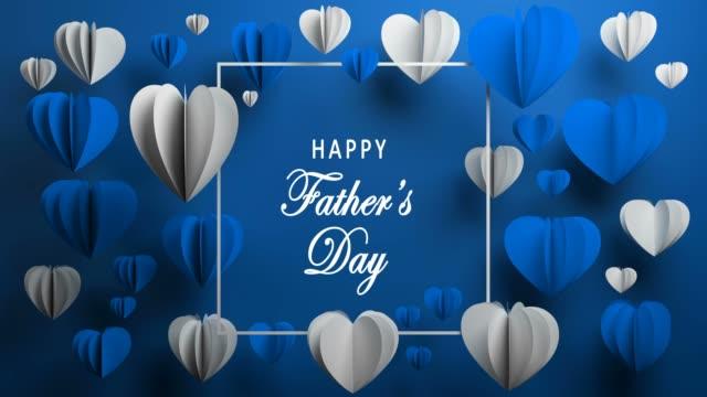 vídeos de stock, filmes e b-roll de fundo azul feliz dia do pai - fathers day