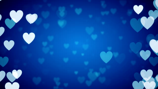 Blue Heart Background Loopable Video