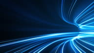istock Blue High Speed Light Streaks Background - Abstract, Data Transfer, Bandwidth - Loopable 1203931420
