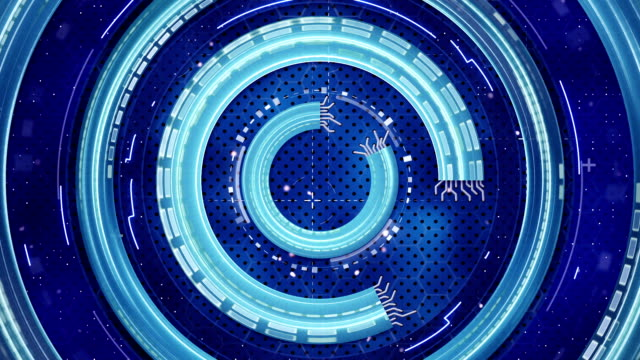 blue hi-tech abstract loopable background video
