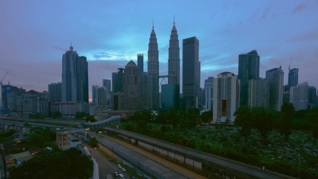 4K TL Blue Hour of Kuala Lumpur.
