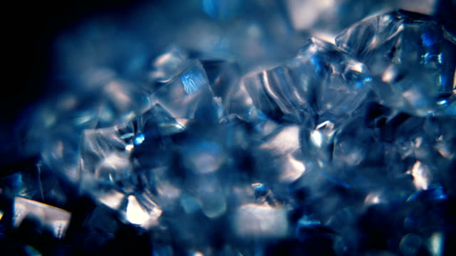 blue ice motion hintergrund - kristalle stock-videos und b-roll-filmmaterial