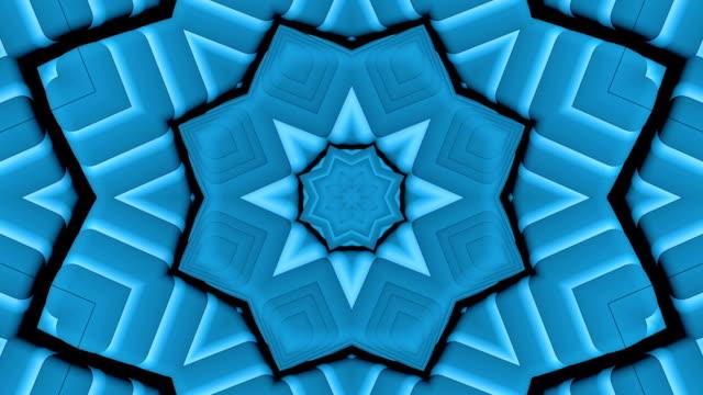 青い万華鏡ループ背景 - 万華鏡模様点の映像素材/bロール