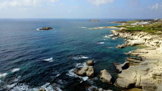Blue Lagoon. Mediterranean coast. Cyprus Blue Lagoon. Mediterranean coast. Cyprus arthropod stock videos & royalty-free footage