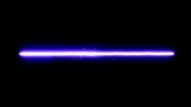 Blue Laser Beam A blue laser beam. Sparkling and twitching. Computer generated video. laser stock videos & royalty-free footage