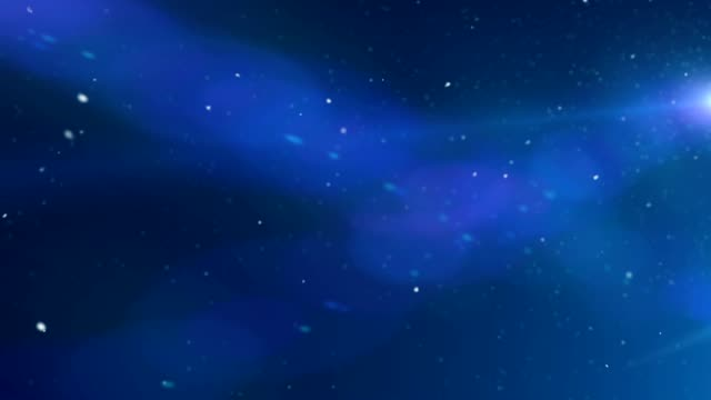 Blue Lens Flares Cosmic Background Animation video