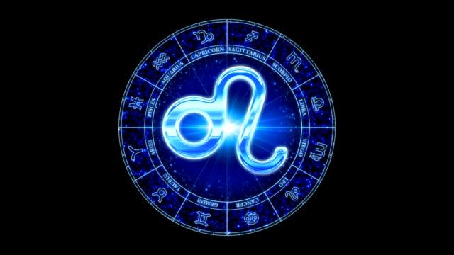 vidéos et rushes de leo zodiacal symbole bleu - ligue sportive