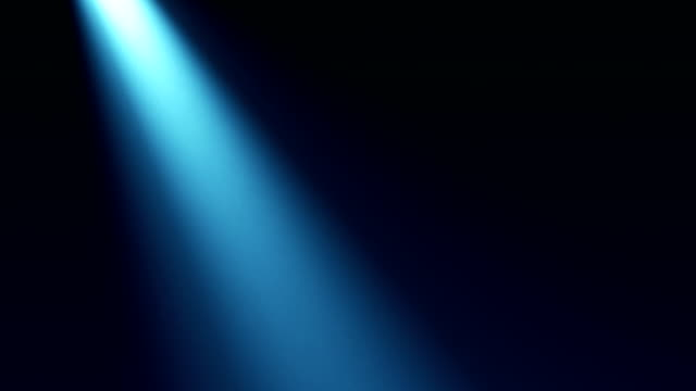 Blue light beam video