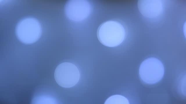 Blue light bulb. Shift focus concept. video