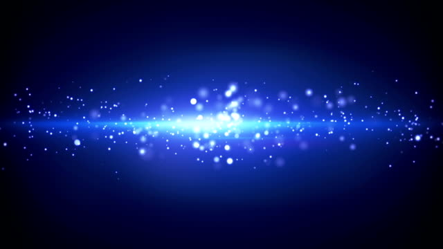 blue light stripe and particles loop video