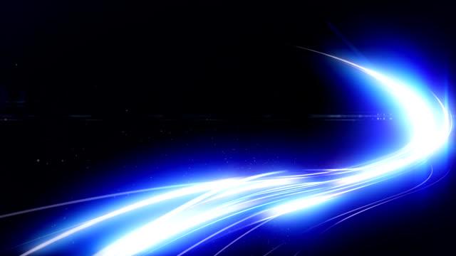 Blue light strokes