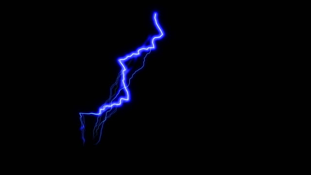 Blue lightning in black space, beautiful stormy sky, 3d render backdrop, computer genrating
