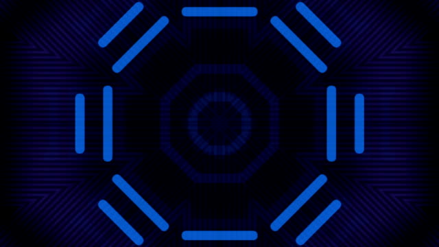 Blue Lights kaleidoscope video