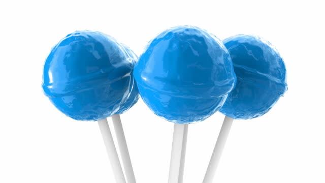 Blue lollipops 3D animation