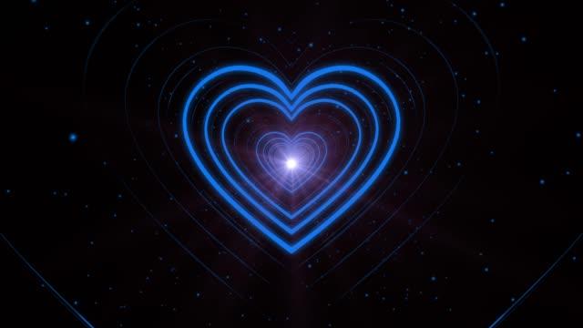 Blue Loopable Heart Shape Tunnel