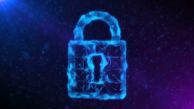 ブルーループ可能なネットワークのセキュラティの背景 - ウイルス対策ソフト点の映像素材/bロール