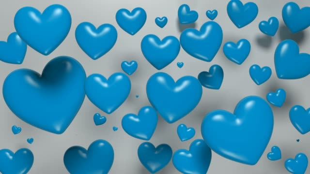 Blue Looped Hearts For Father's Day Concept