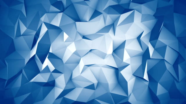 Blue low poly 3D surface seamless loop animation video