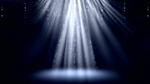 stockvideo's en b-roll-footage met blauwe magische licht stralen met de deeltjes animatie achtergrond. - lichtbundel