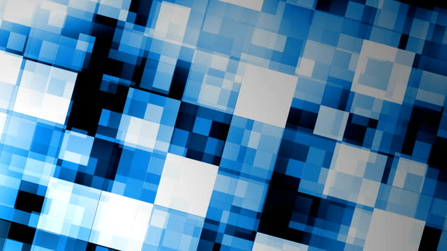 Blue motion background with animated squares video