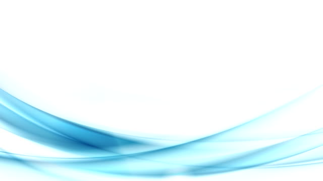 Blue moving flowing waves video animation