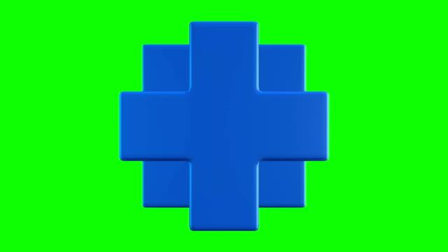 blå necker kub. 3d cross logo design, cirklarna, sakral geometri. - korsform bildbanksvideor och videomaterial från bakom kulisserna
