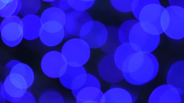 Blue neon light decorate in Christmas and New Year. video