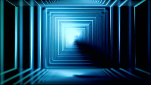 stockvideo's en b-roll-footage met blauw neon - boog architectonisch element