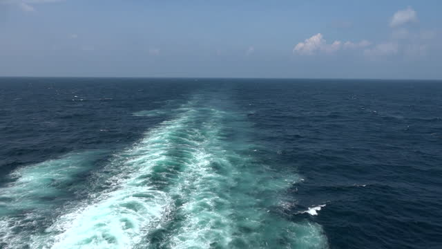 Blue ocean Crossing the Atlantic Ocean. curaçao stock videos & royalty-free footage