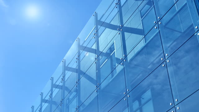 blue office building - contemporary architecture stock videos & royalty-free footage