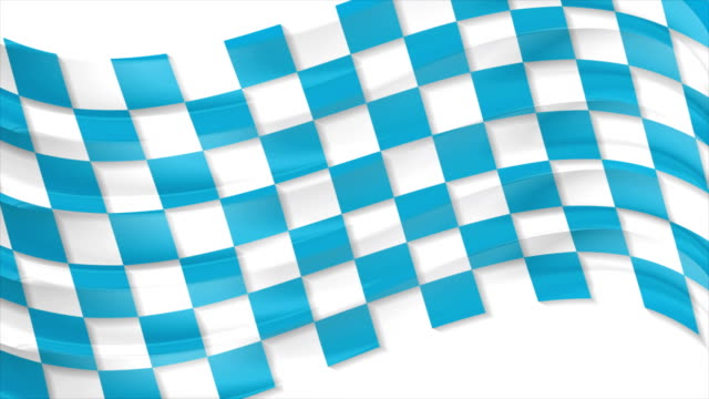 Blue Oktoberfest waving flag abstract video animation