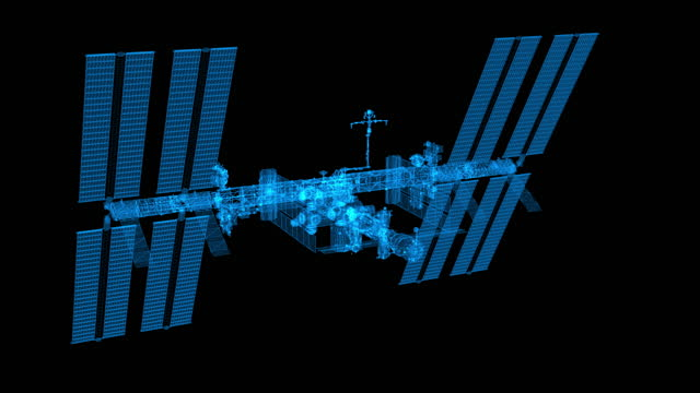 ISS - blue outline zoom out video