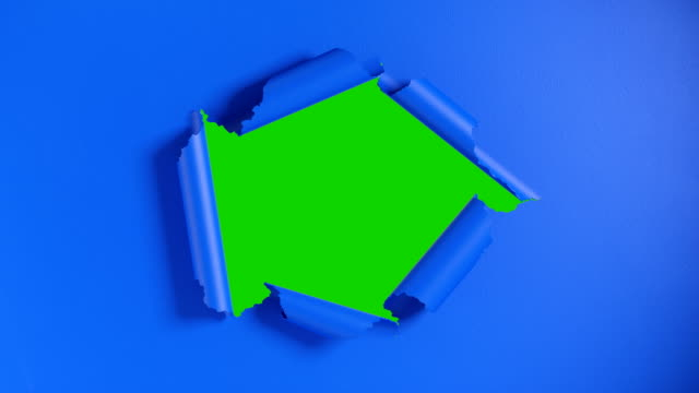 Blue paper tearing from center, opening green chroma key background. Luma matte included. Blue paper tearing from center, opening green chroma key background. Luma matte included. 3d animation torn stock videos & royalty-free footage