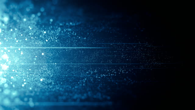blue particles moving horizontally - loop - abstract art stock videos & royalty-free footage