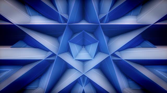 Blue Pentagon pattern loop video, stage background loop movie video