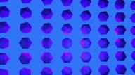 istock Blue pink and purple abstract crystal background 1190839873