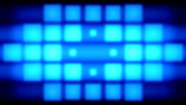 Blue pixels lights video