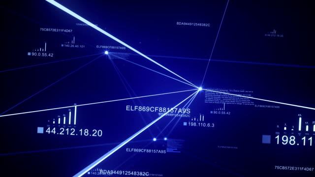 Blue Plexus Background. Loopable. video