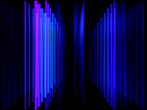 blue prisma licht streifen hintergrund loop - prisma stock-videos und b-roll-filmmaterial