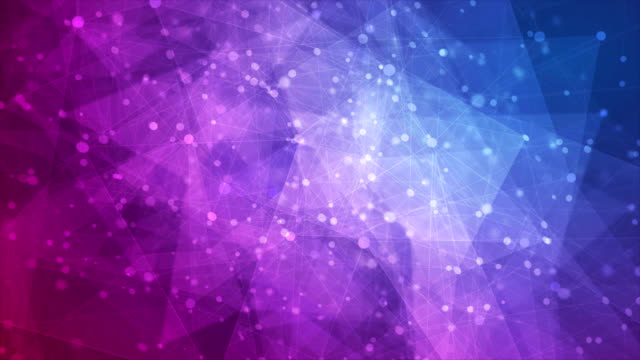 Blue purple abstract low poly technology video animation Blue and purple abstract low poly technology motion background. Seamless looping. Video animation Ultra HD 4K 3840x2160 seamless pattern stock videos & royalty-free footage