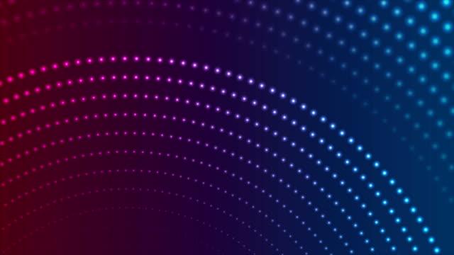 ブルーパープルネオンドット抽象的なビデオアニメーション - 玉虫色点の映像素材/bロール