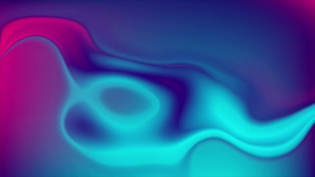 Blue purple neon flowing liquid waves video animation