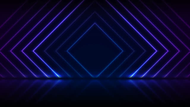Blue purple neon laser squares technology motion background